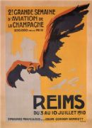 Reims aviation week poster 1910 - La Semaine de l'aviation